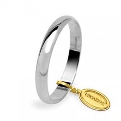 Alianza boda en  oro blanco